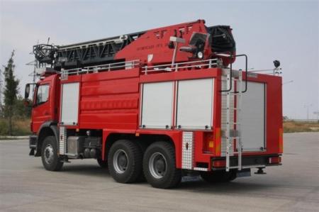 HydraulIc Ladder FIre Truck