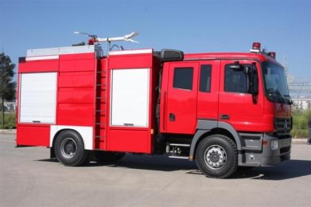 Narrow Field Fire Truck